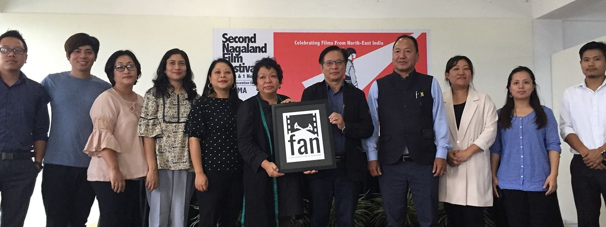 Members of the Film Association of Nagaland along with director and additional director of DIPR