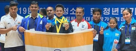 Jeremy Lalrinnunga won a gold at the 2019 Asian Youth and Junior Weightlifting Championship in Pyongyang, North Korea