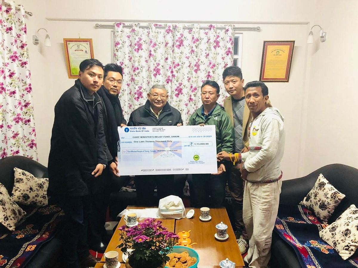 The amount was handed over to Sikkim minister Kunga Nima Lepcha