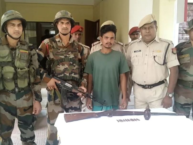 NDFB-S linkman  with arms buried at his residence held in Assam