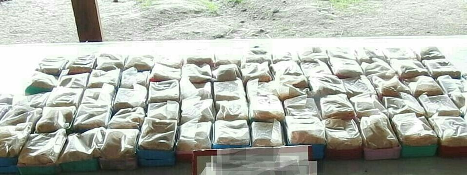 Troops of Assam Rifles seized contraband drugs worth Rs 2.4 crore in Manipur's Tengnoupal district on Wednesday