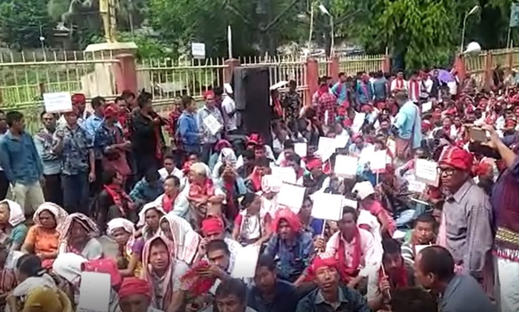 Assam: Village headmen take to streets in Karbi Anglong