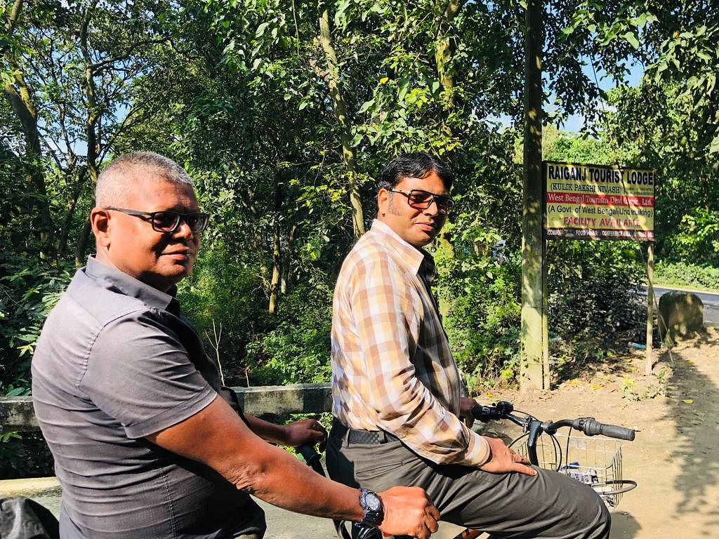 On the third day of their tour, Shaw brothers completed their ride up to Raiganj