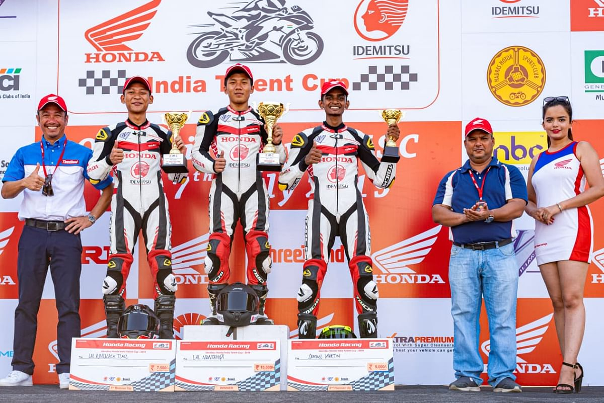 The winners of IDEMITSU Honda India Talent Cup 2019