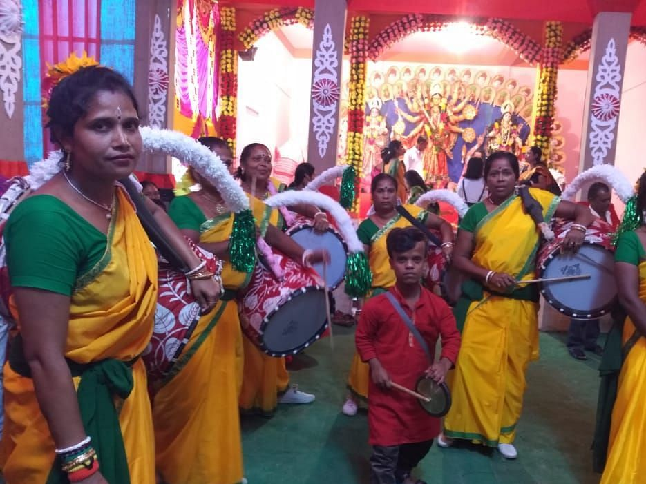 Assam: How women 'dhakis' are adding new sight to an old tradition