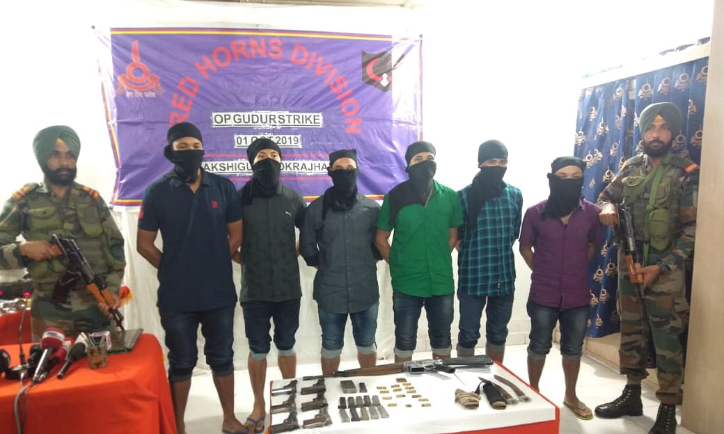 Assam: 6 NDFB-S rebels held from Ripu reserve forest in Kokrajhar