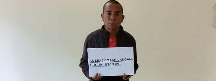 The arrested NSCN-IM militant along with the recoveries