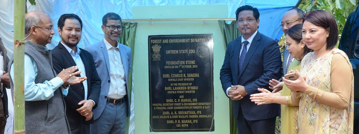 Meghalaya chief minister Conrad K Sangma lays foundation stone for state's first zoo at Umtrew in Ri Bhoi district