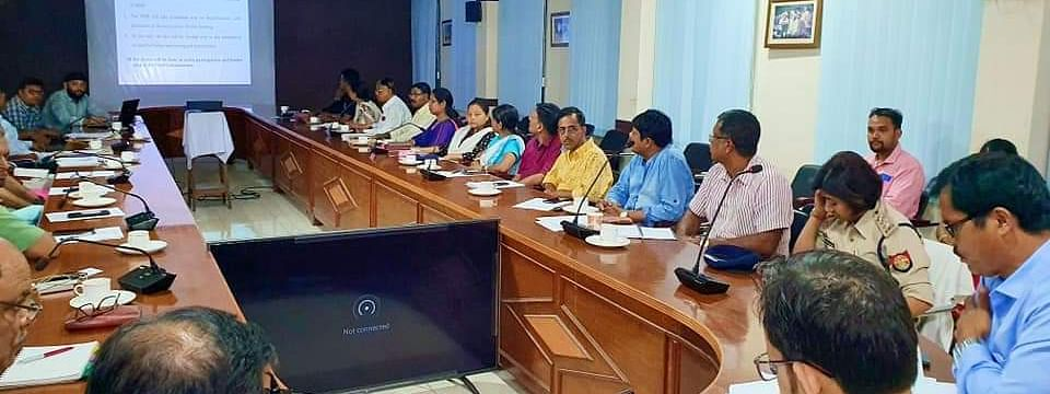 Ward commissioners and board employees of Dibrugarh at the conference hall of deputy commissioner's office on Wednesday
