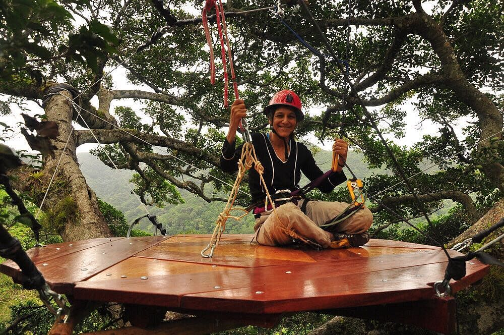 Indo-American scientist Nalini Nadkarni dedicates a lot of her time researching about canopies of trees