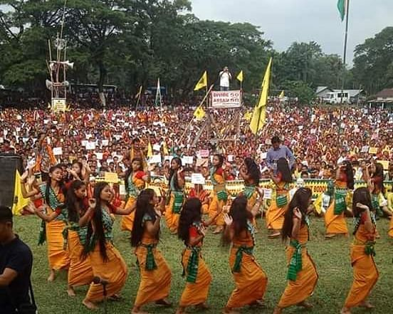 Bodo traditional dances were also performed at the protest site in Balipara