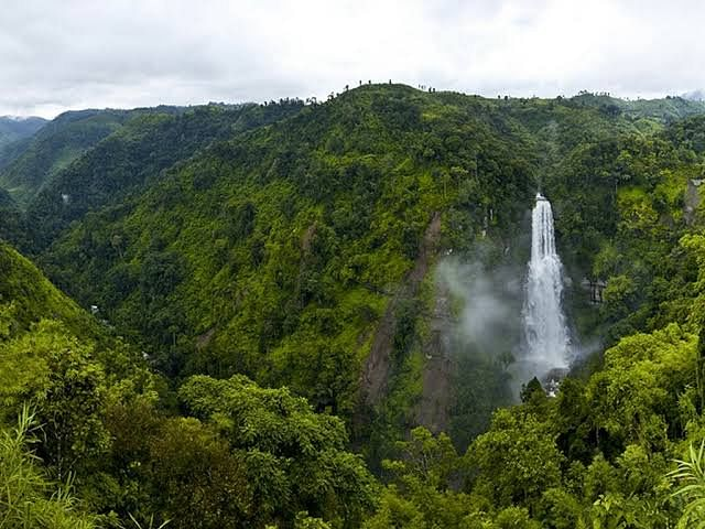 Vantawng, the highest waterfall in Mizoram