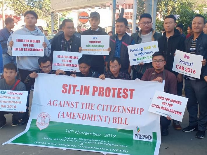Mizoram joins region-wide protests against Citizenship Bill