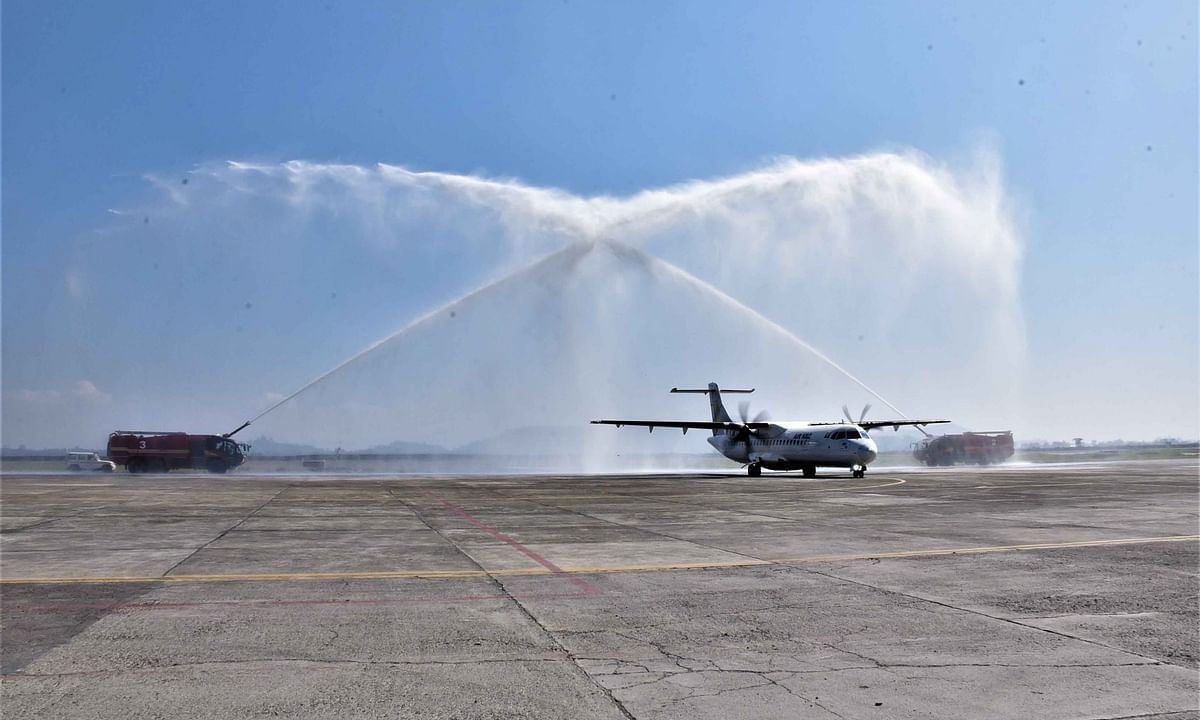 Imphal-Mandalay air service commences, 1st flight lands in Manipur