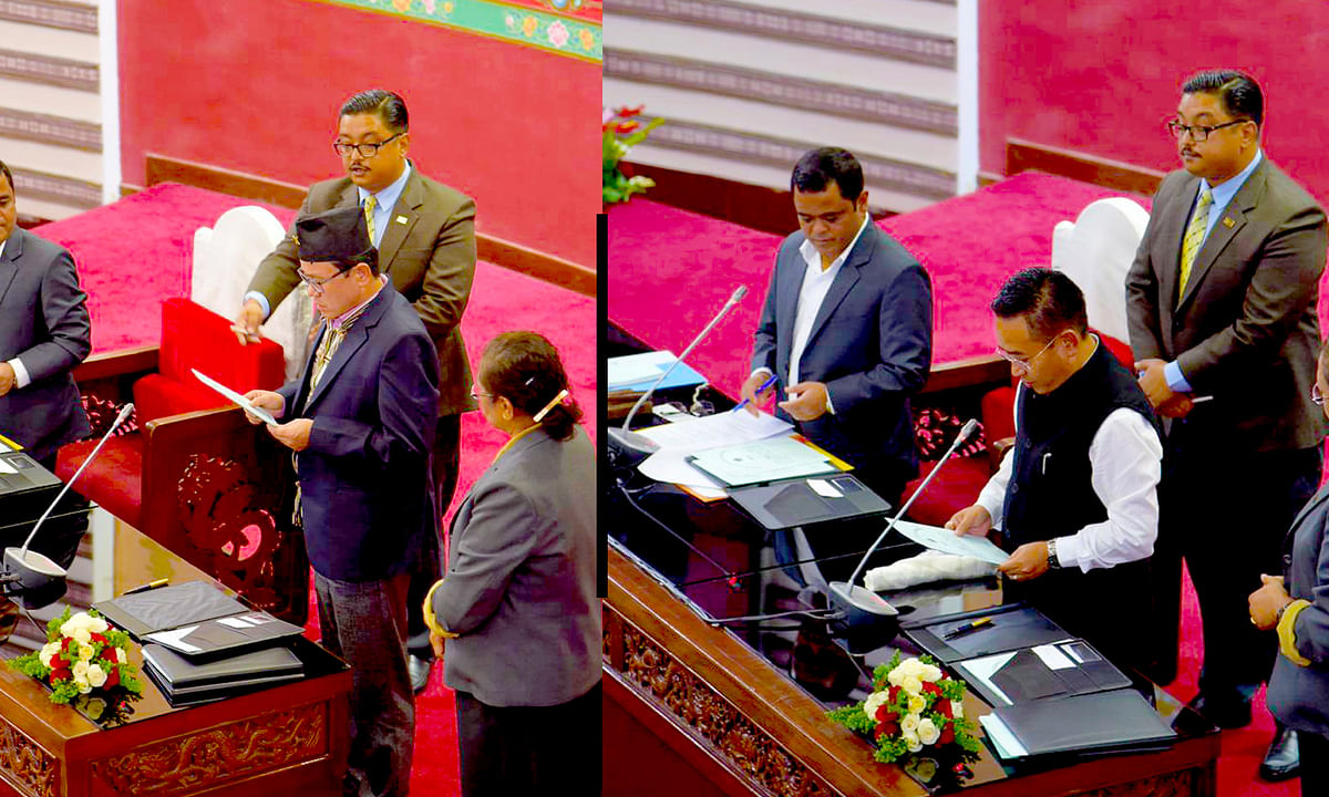 CM PS Golay, 2 others sworn in as members of Sikkim Assembly