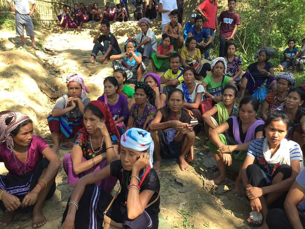 Bru women in one of the relief camps in Tripura