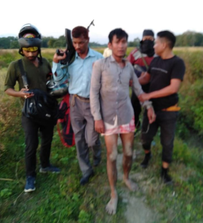 A small exchange of gunfire between security forces and the arrested NDFB militant also took place