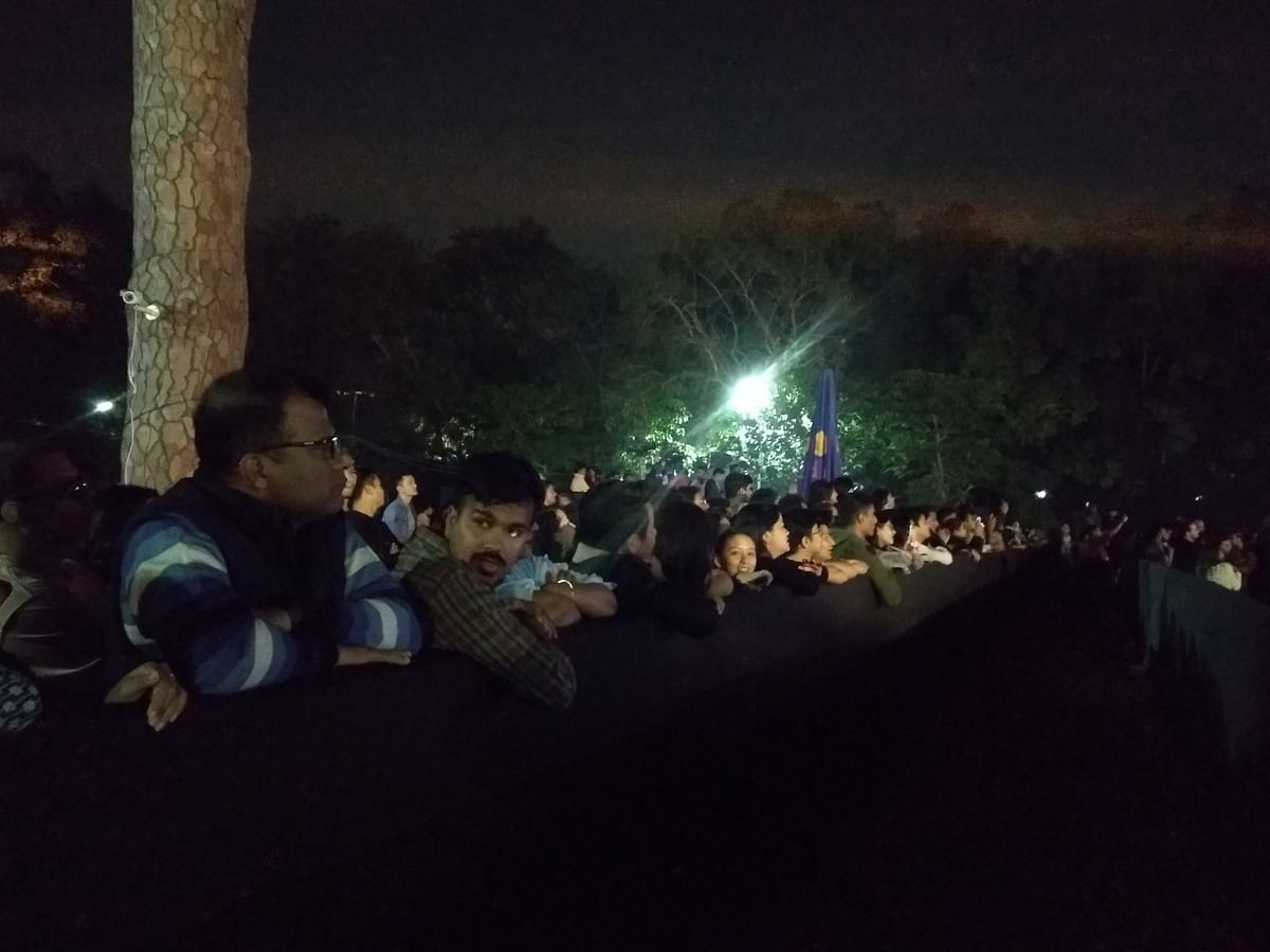 The crowd at Northeast Festival in Delhi on Day 1