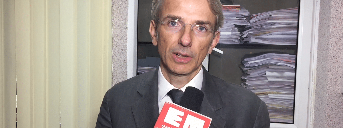 Ambassador of France to India, Emmanuel Lenain, during an exclusive interview with <i>EastMojo</i>
