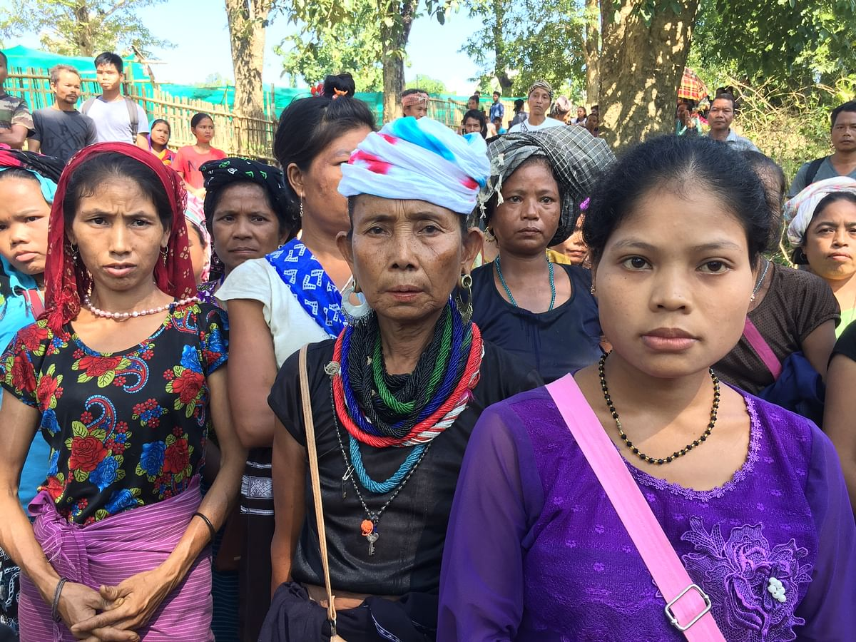 Bru people in a relief camp in Tripura