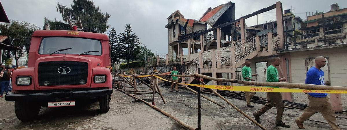 The 117-year-old church of god in Shillong brought down to ashes