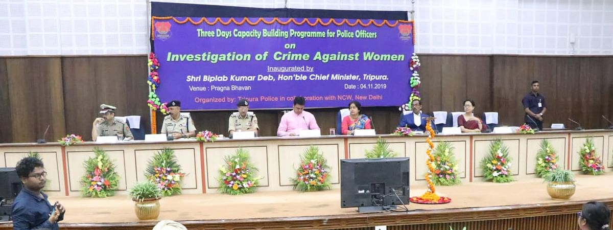 A three-day programme on 'Investigation of Crime Against Women' being organised in Agartala, Tripura