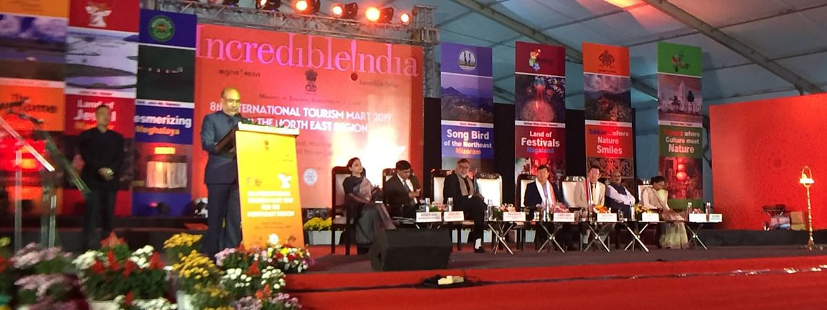 The 8th edition of the International Tourism Mart began in Imphal, Manipur on Saturday