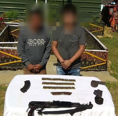 The apprehended rebels were identified as SS second lieutenant Pougonglong (28) of NSCN-R and SS captain Sagu Rongmai (40) of ZUF