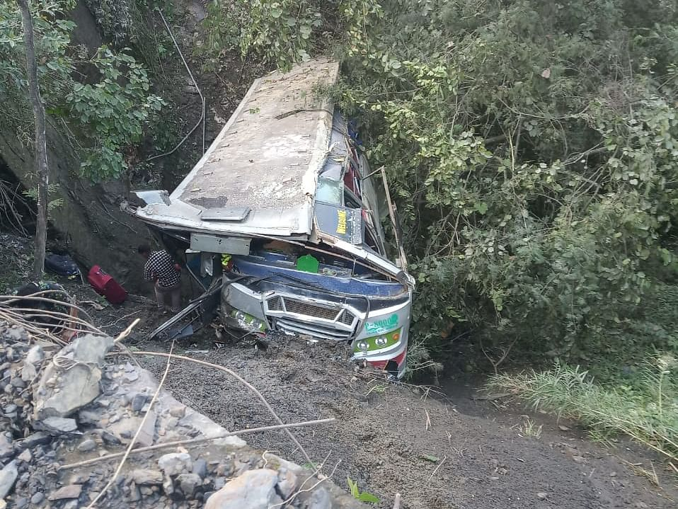 Manipur-bound tourist bus falls into gorge, many hurt