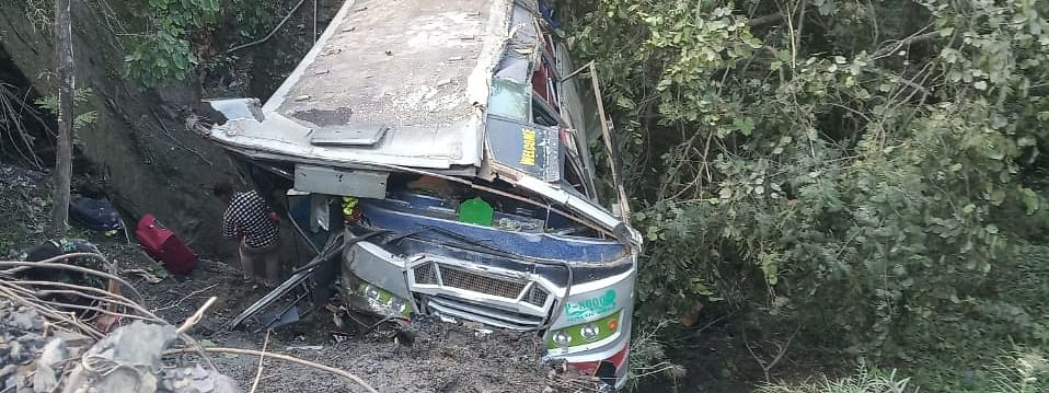 The tourist bus fell into a gorge between Maram and Makhan in Manipur's Senapati district on Wednesday