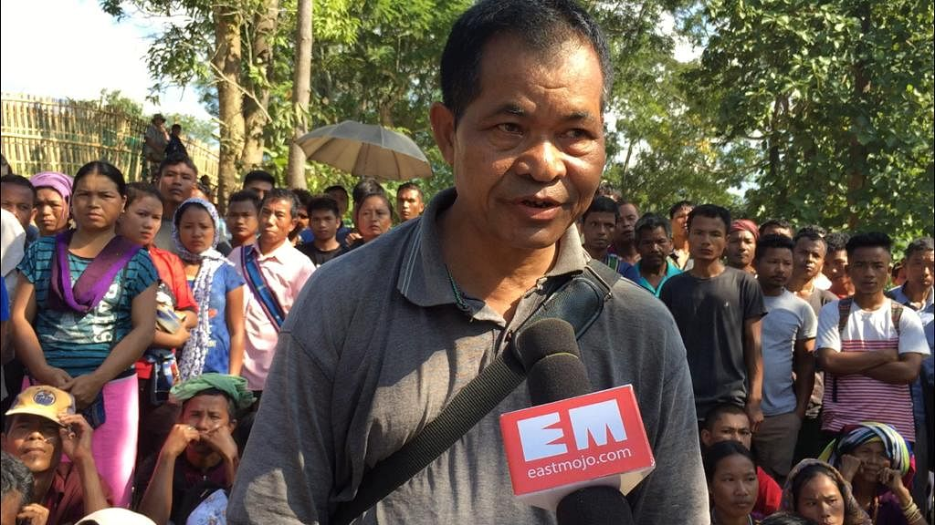 Mizoram Bru Displaced People's Forum (MBDPF) president A Sawibunga