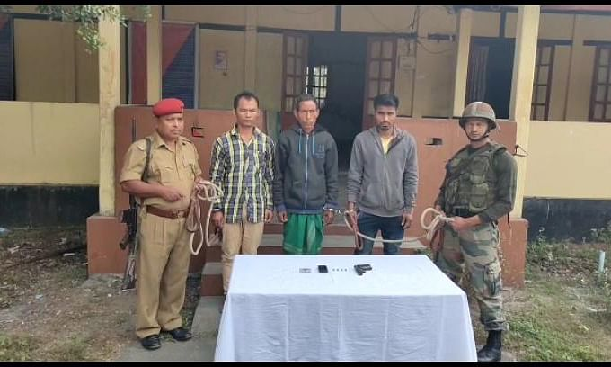 Assam: 3 NDFB-S rebels held with arms in Chirang