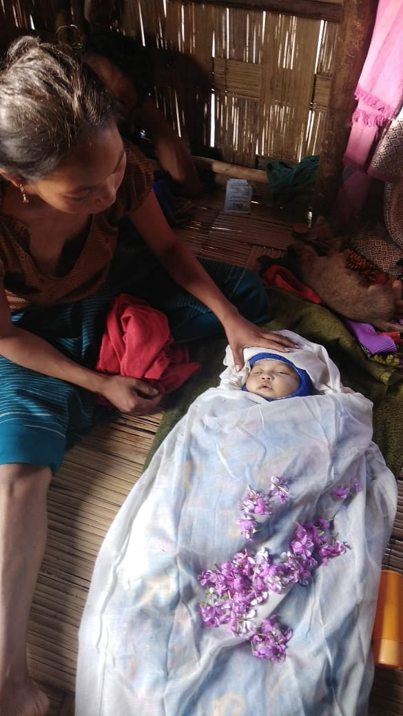 Pigili Reang,  a Bru infant who died on November 4