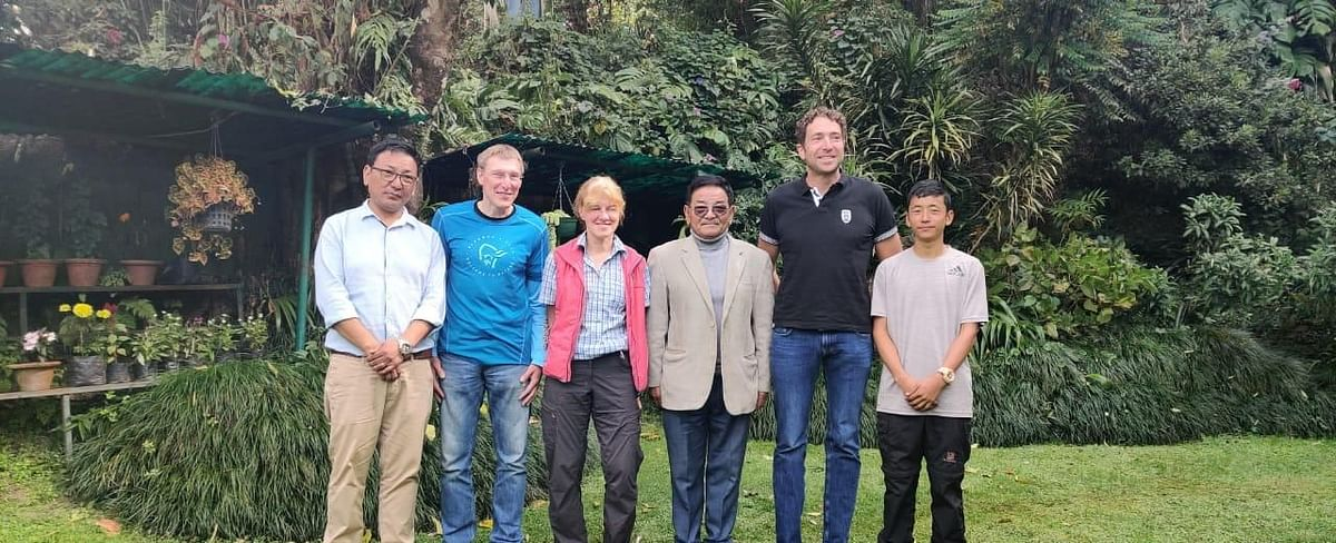 The German mountaineers along with the members of Namgyal Trek & Tours (Gangtok) and  liaison officer Bishnu Gurung