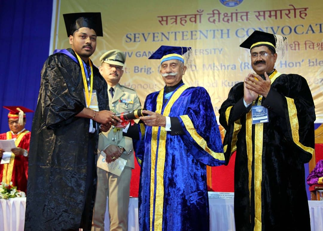 Arunachal Pradesh governor BD Mishra called upon the students to show themselves worthy of the degrees conferred on them