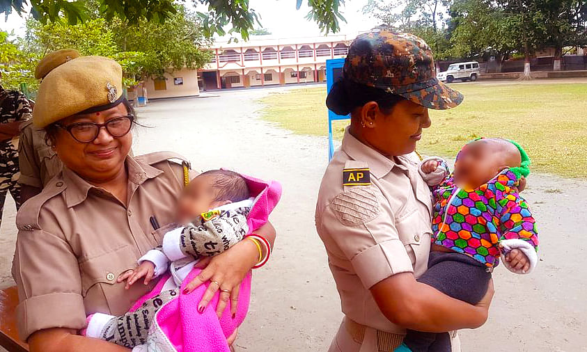 This photo, taken outside Don Bosco High School, Mangaldoi in Darrang district of Assam and uploaded on Twitter by Assam Police, garnered a lot of respect and praise both for the cops as well as the mothers taking the exam