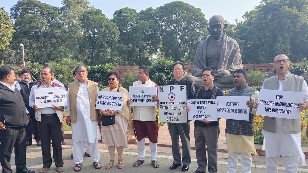 Northeast MPs demo against CAB in New Delhi, submit memo to PM