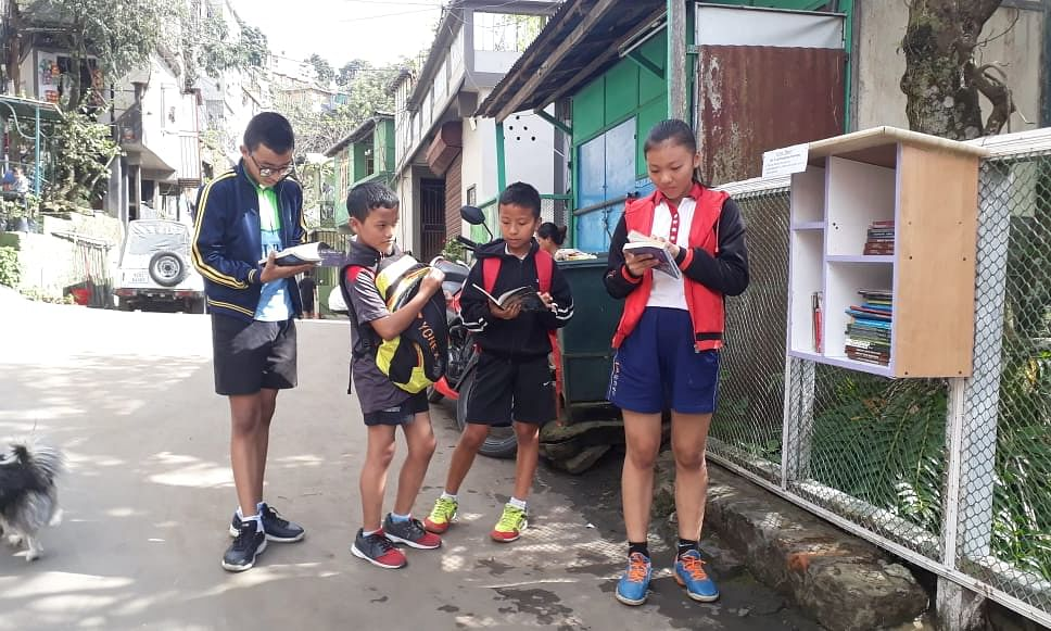 Now, pick up, read books as you go at this Aizawl roadside library