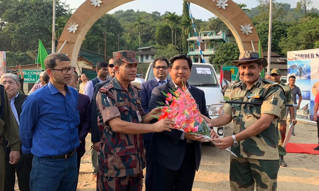 Meghalaya CM Conrad K Sangma sets off on road trip to Bangladesh