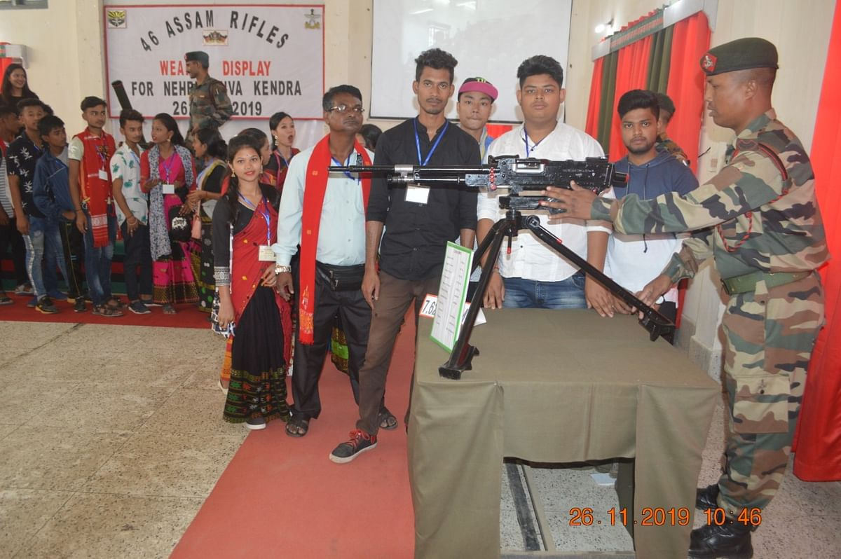 The battalion organised a weapon display programme