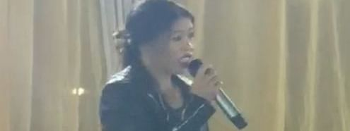 Indian boxer Mary Kom singing her rendition of 'What's up' by American rock band 4 Non Blondes in New Delhi on Thursday