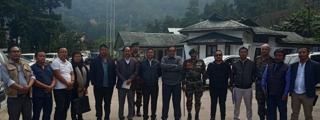 Members of the 3 NSCN groups, top security officials along with CFMG/CFSB chairman Lt Gen (Retd) Shokin Chauhan after the joint coordination meeting on Wednesday