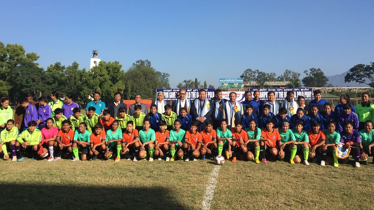 Team India and Team Myanmar along with CM N Biren Singh and health and sports director of Myanmar U Myo Myint Aung in Imphal
