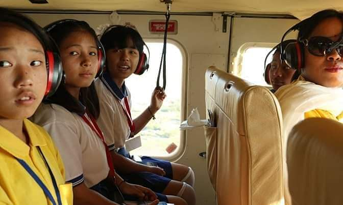 How Manipur school students got a chopper ride on Children's Day