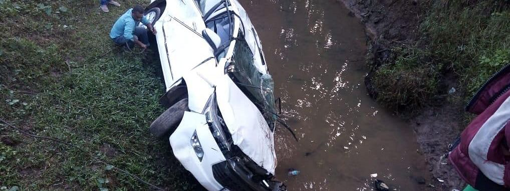The vehicle fell into a canal beside National Highway 329 in Dharamtul locality of Assam's Karbi Anglong district on Tuesday