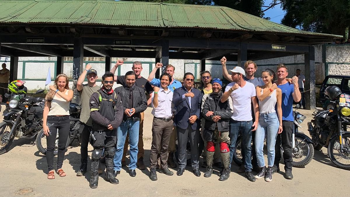 Ride East team members started their 1,000 mile ride from Shillong, Meghalaya on October 15 this year