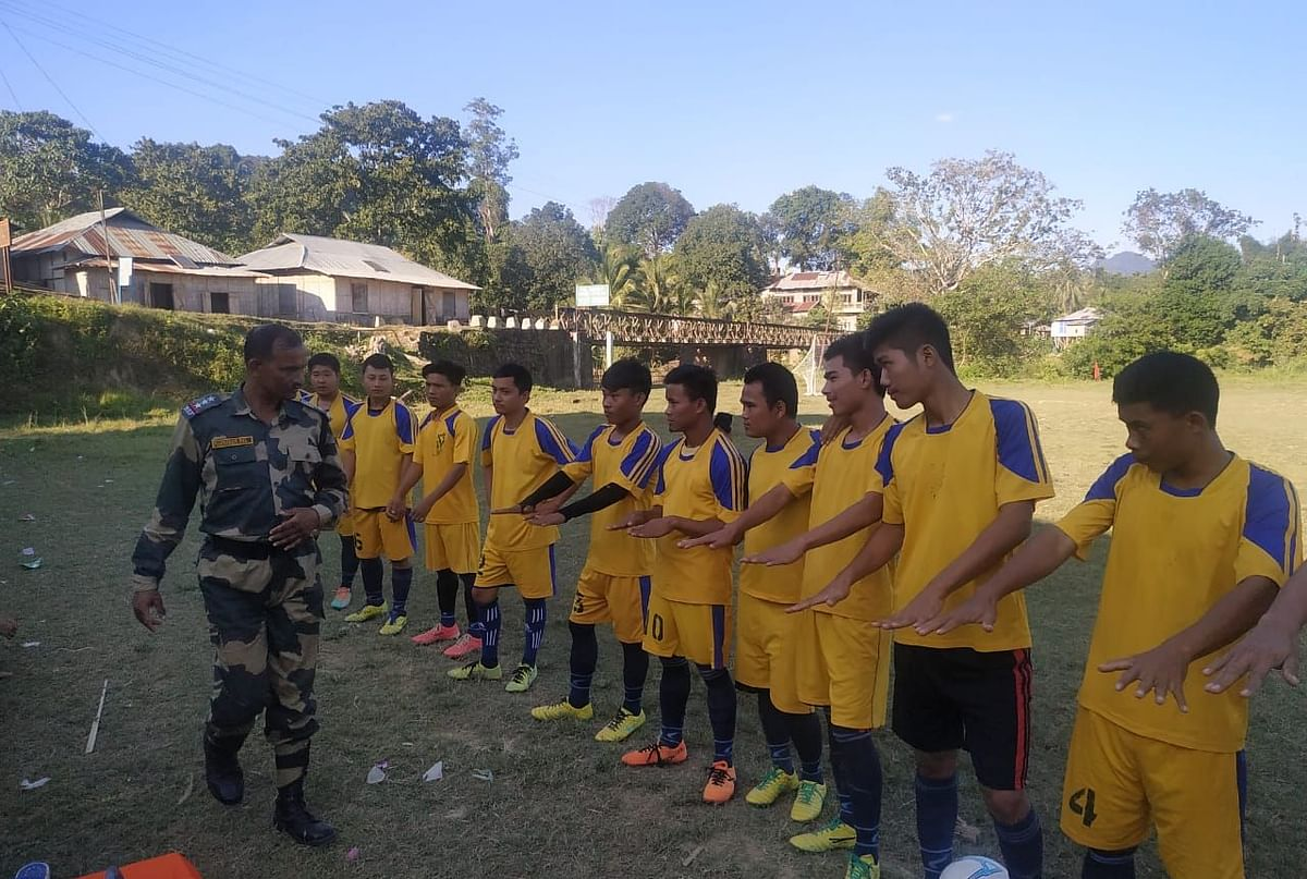BSF organising a volleyball tournament in Mizoram