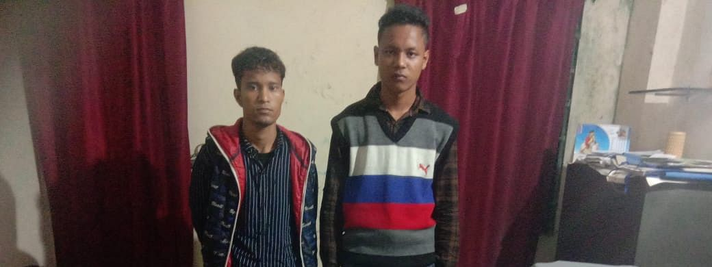 The two arrested ULFA-I militants in police custody