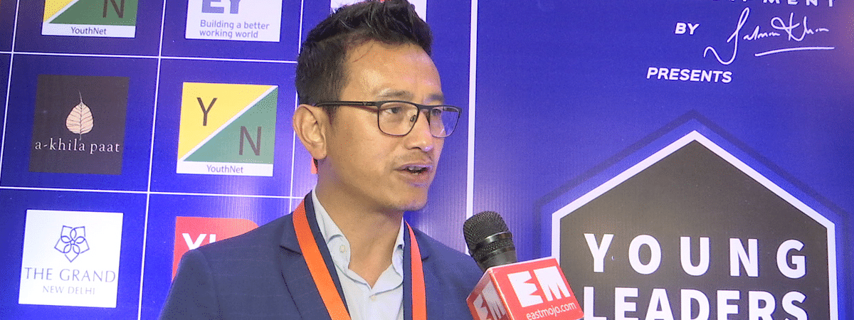 Former Indian football skipper Bhaichung Bhutia during the 7th Young Leaders Connect in New Delhi on Saturday