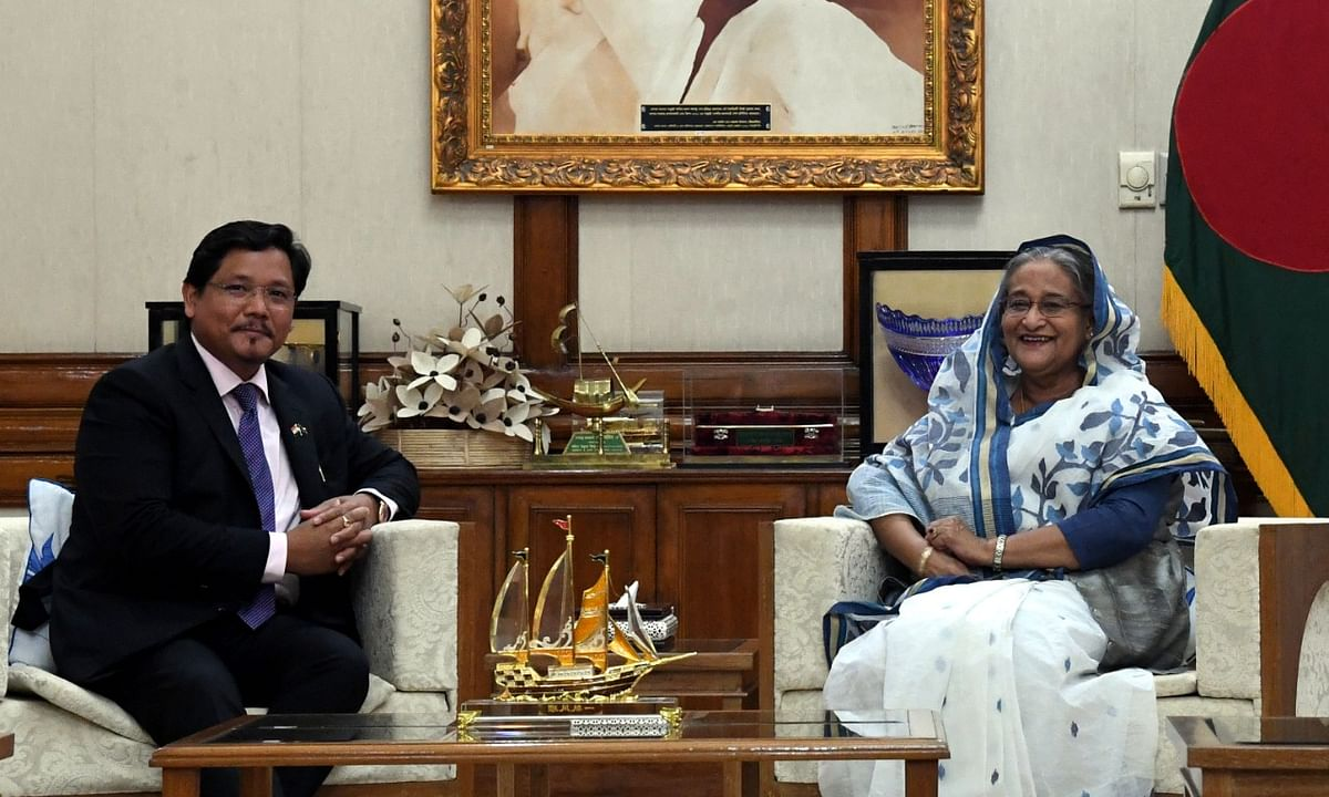 Meghalaya CM discusses scope of economic ties with Bangladesh PM